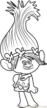 princess poppy trolls coloring coloring pages