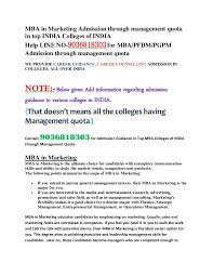 Counselling Skills For Managers Mba Notes Mba In Marketing Admission Through Managent Quota In Top India Colleg