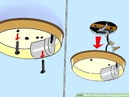 How To Mount A Ceiling Light Replacing Ceiling Light Image Titled Replace A Ceiling Light