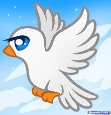 cartoon cockatiel drawn dove cute cartoon pencil and in color drawn dove cute cartoon