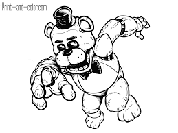 five nights at freddy u0027s coloring pages print and color com