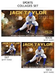 taylor sports collage photoshop template