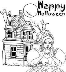 barbie halloween coloring pages kids