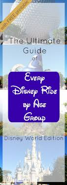 printable disney planning guide the best rides at every disney world park for every age group with
