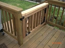 outdoor pet gate for deck best deck railings gates images on deck