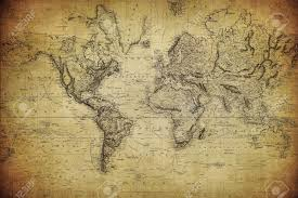 Vintage Map Vintage Map Of The World 1814 Stock Photo Picture And Royalty