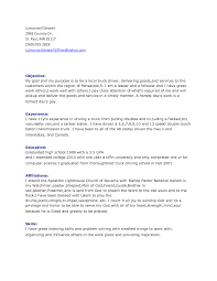 A Perfect Resume Sample by Truck Driving Resume Examples Resume For Your Job Application