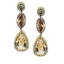 diamonds earrings gold diamond source 18k gold 2 63ctw colored diamonds earrings