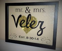 amazon com personalized mr u0026 mrs family established glitter heart