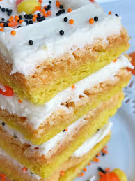 Decorated Halloween Sugar Cookies by Candy Corn Sugar Cookie Bars Together As Family