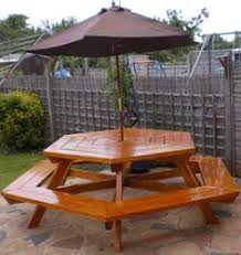 Free Hexagon Picnic Table Plans Pdf by Only 2x4s And 2x6s Picnic Table Very Octagonny Furniture