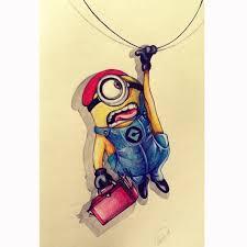 artist minion color pencil drawing kubrart deviantart