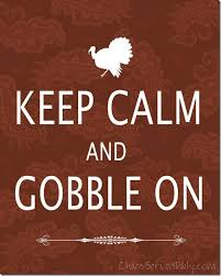 keep calm and gobble on bombshell bling