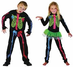 Skeleton Halloween Costume Kids Boys Girls Fancy Dress Halloween Skeleton Costume 4 5 6 7 8