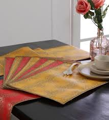 table runner placemat set buy cannigo patricia fibre table runner with placemats set of 10