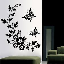 wall stickers home decor 3d butterfly flowers wall sticker for kids room bedroom living