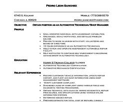 Auto Mechanic Resume Templates Automotive Technician Resume Examples Cnc Machinist Samples Se