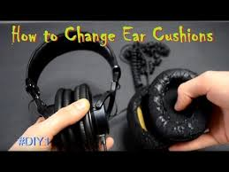 amazon com sony mdr hw700ds how to remove replace ear cushions ear pads on sony mdr 7506 diy1