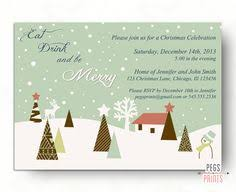 Cowboy Christmas Party Invitations - cowboy santa christmas party invitation by thatpartychick on etsy