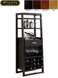 15 bottles open shelves dulcet tall wine bar cabinet furniture