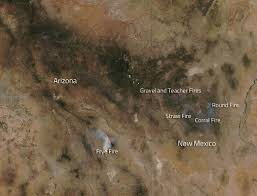 New Mexico Road Closures Map by Fires In The Gila Wilderness New Mexico Nasa