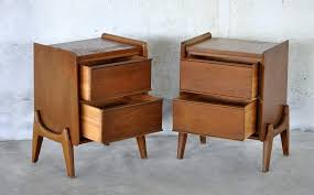 furniture awesome mid century nightstand for interior furniture