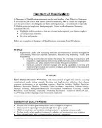 Resume Summary Statement Examples by Marketing Resume Summary