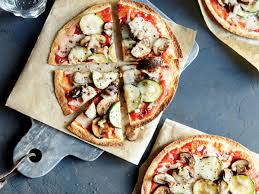 healthy pizza recipes cooking light crunchy whole wheat veggie pizzas