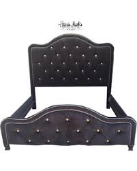 Tufted Headboard Footboard Check Out These Bargains On Tufted Bed Black Velvet French King