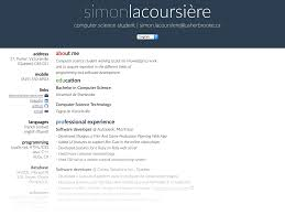 Css Resume Github Lacoursieresimon Resume My Resume Made Using Html Css