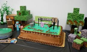 Minecraft Cake Decorating Kit Diy Minecraft Birthday Party At Sky High Sports The Trampoline