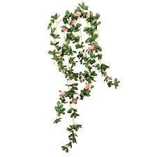 Wedding Garden Decor Rhododendron Artificial Silk Flowers Hanging Plant Vine For Diy