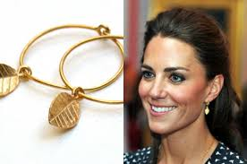kate middleton gold leaf earings the princess earrings 39 00