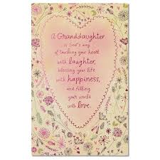 religious birthday cards religious birthday card for granddaughter with foil walmart