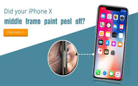 did your iphone x middle frame paint peel off