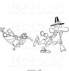 pilgrim chasing turkey clipart 13