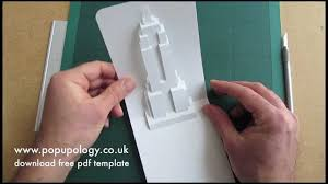 Free Kirigami Card Templates Pop Up Empire State Building Card Tutorial Origamic Architecture