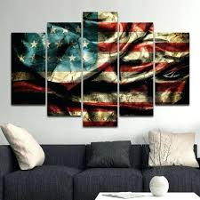 Wholesale Wall Decor Wall Decor Living Room Diy Vintage Windy Flag Multi Panel Canvas