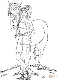barbie horse coloring free printable coloring pages