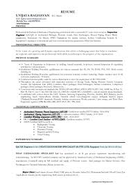 Sample Resume Objectives Quality Control Inspector by Qc Welding Inspector Cover Letter Template