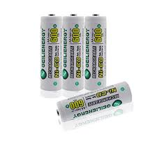 rechargeable aa batteries for solar lights amazon com geilienergy aa nicd 600 mah 1 2 v rechargeable batteries