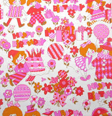 ballerina wrapping paper vintage pink orange gold children s birthday wrapping paper or