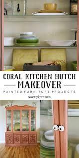 coral kitchen hutch