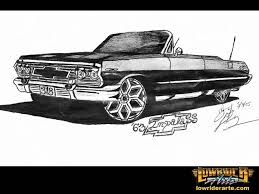 drawn car lowrider pencil and in color drawn car lowrider