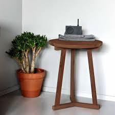 Tripod Side Table Ethnicraft Tripod Walnut Sidetable Solid Wood Furniture