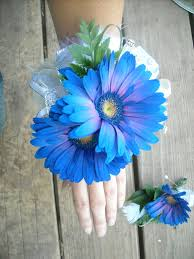 royal blue corsage and boutonniere becky s blossoms homecoming 2012