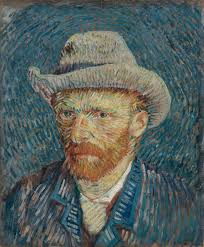 self portrait with grey felt hat van gogh museum