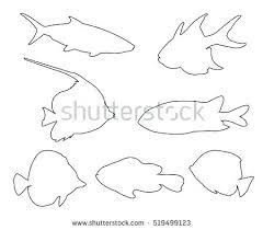 fish outline drawing free fish outline drawing photo fish