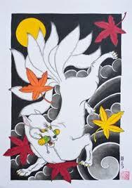 japanese fox demon tattoo design by jackie rabbit tattoos