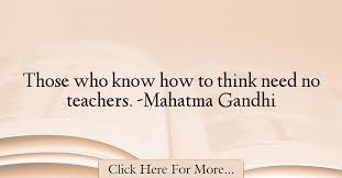 Mahatma Gandhi Quotes About Teacher